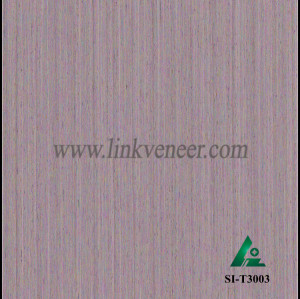 SI-T3003, Engineered straight grain oak wood veneer