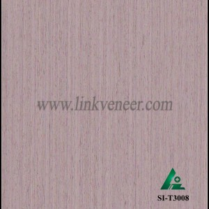 SI-T3008, Engineered straight grain oak wood veneer