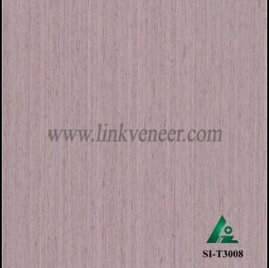 SI-T3008, Engineered straight grain oak wood veneer