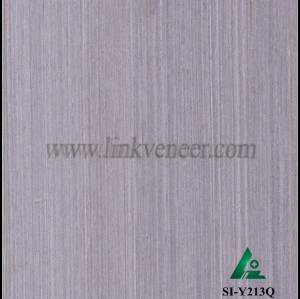 SI-Y213Q, Engineered gray oak wood veneer for hotel decoration