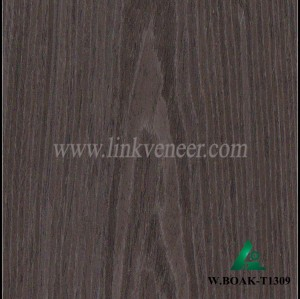W.BOAK-T1309, Engineered veneer of washed black oak (Crown vein)
