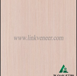 W.OAK-F229S, Engineered washed oak wood veneer for hotel decoration
