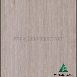 W.OAK-F632S, engineered washed oak wood veneer straight grain