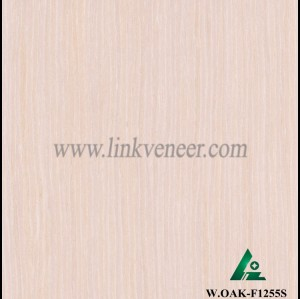 W.OAK-F1255S, Engineered veneer of washed white oak veneer