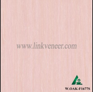 W.OAK-F1677S, Beautiful Engineered washed red oak wood veneer for hotel decoration