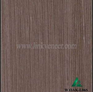 W.OAK-L06S, Beautiful Engineered washed oak wood veneer for hotel decoration