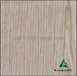 W.OAK-L433C, good quality engineered washed oak wood veneer sheet for hotel furniture decoration