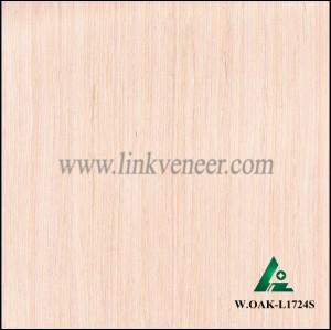 W.OAK-L1724S, Engineered washed white oak veneer for furniture decoration