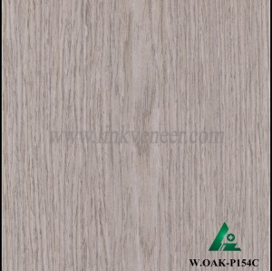 W.OAK-P154C, Beautiful Engineered washed oak wood veneer for hotel decoration