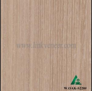 W.OAK-S220#,Beautiful Engineered washed oak wood veneer for hotel decoration
