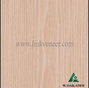W.OAK-S303#, Beautiful Engineered washed oak wood veneer for hotel decoration