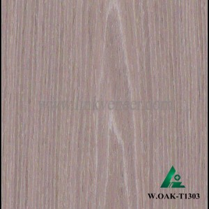 W.OAK-T1303, Beautiful Engineered washed oak wood veneer for hotel decoration