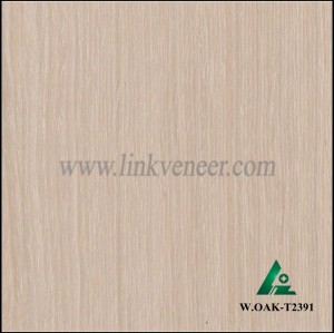 W.OAK-T2391, Beautiful Engineered washed oak wood veneer for hotel decoration