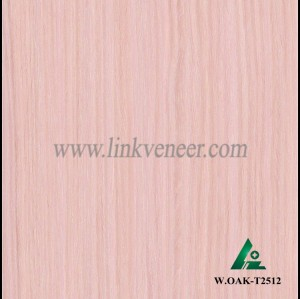 W.OAK-T2512, Beautiful Engineered washed oak wood veneer for hotel decoration