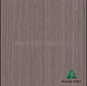 W.OAK-T2513, Engineered washed oak veneer for furniture decoration