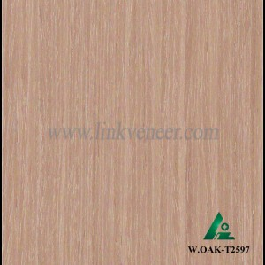 W.OAK-T2597, Engineered Wood Veneer of washed oak veneer