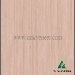 W.OAK-T5008, Engineered washed oak wood veneer
