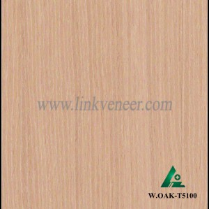 W.OAK-T5100, Beautiful Engineered washed oak wood veneer for hotel decoration