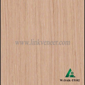 W.OAK-T5102, Beautiful Engineered washed oak wood veneer for hotel decoration