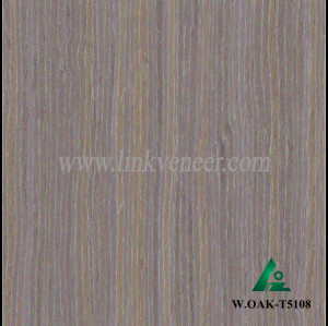 W.OAK-T5108, Beautiful Engineered washed oak wood veneer for hotel decoration