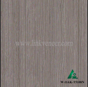 W.OAK-T5108N, Beautiful Engineered washed gray oak wood veneer for hotel decoration