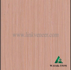 W.OAK-T5191, Beautiful Engineered washed red oak wood veneer for hotel decoration