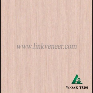 W.OAK-T5201, Engineered white oak veneer, artificial white oak wood veneer
