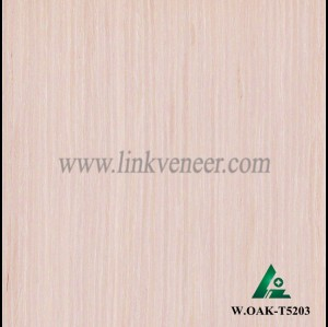 W.OAK-T5203, Engineered white oak veneer, artificial white oak wood veneer