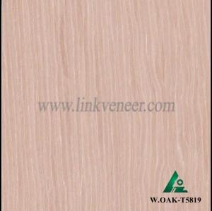 W.OAK-T5819, 0.45mm engineered wash oak wood veneer for furniture