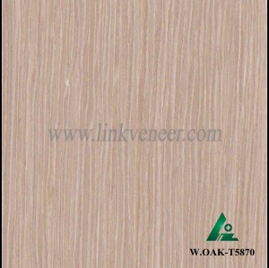 W.OAK-T5870, E.V. engineered wood venneer recon wood face veneer size2500*640mm