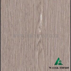 W.OAK-TDF605, 0.3mm engineered wash oak wood veneer for furniture