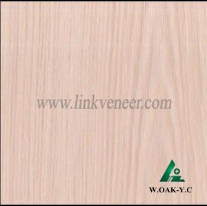W.OAK-Y.C, 0.25mm engineered wash oak wood veneer for furniture
