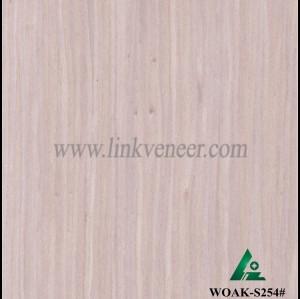 WOAK-S254#,  0.9mm engineered white oak wood veneer for furniture