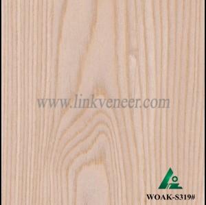 WOAK-S319#, Crown design white oak veneer
