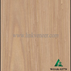 WOAK-S377#, High quality manufacturer supply recon veneer red color for plywood face 2x8 size