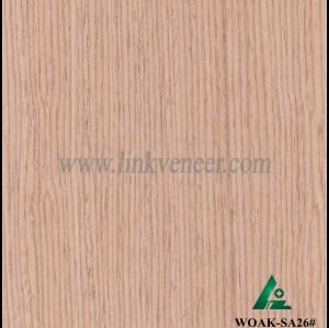 WOAK-SA26#, High quality engineered white color veneer for plywood face
