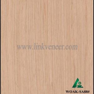 WOAK-SA88#, Hot sale recon veneer with crown design high quality engineered wood veneer yellow veneer for furniture face