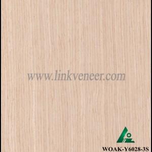 WOAK-Y6028-3S, recon oak veneer engineered wood veneer sliced cut veneer size2500x640mm