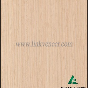 WOAK-Y6029S, engineered wood veneer recon white oak veneer diagonal size 2500*640mm