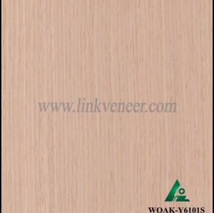 WOAK-Y6101S, produce engineered wood veneer white oak with crown design technology wood veneer