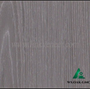 WS.OAK-L04C, Manufacturer supply engineered wood veneer sliced cut recon veneer 0.3mm recomposed veneer for plywood face