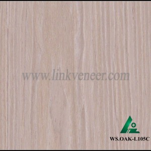 WS.OAK-L105C, face veneer washed oak veneer/engineered washed oak veneer/recomposed oak veneer