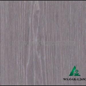 WS.OAK-L265C, black oak recon veneer 0.3mm with high quality