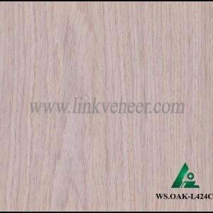 WS.OAK-L424C, engineered wood veneer for plywood face veneer oak a grade manufacurer technology wood veneer