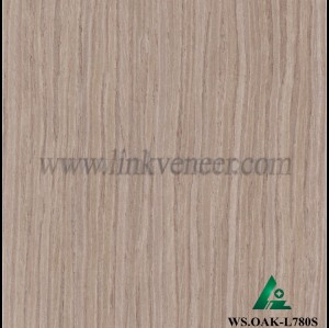 WS.OAK-L780S, Furniture plywood face used engineered oak veneer with high quality size 2500x640mm slice cut wood veneer