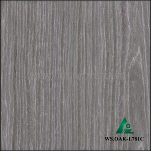 WS.OAK-L781C, engineered wood veneer recon wash gray oak face veneer recon veneer