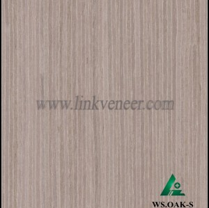WS.OAK-S, Grey color of washed oak face veneer