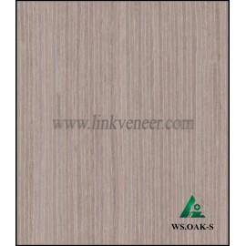 WS.OAK-S, Grey color of washed oak face veneer