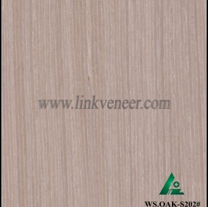 WS.OAK-S202#, Manufacturer supply engineered wood veneer sliced cut recon veneer 0.3mm recomposed veneer for plywood face