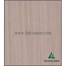 WS.OAK-S202#, Manufacturer supply engineered wood veneer sliced cut recon veneer 0.3mm recomposed veneer for plywood face